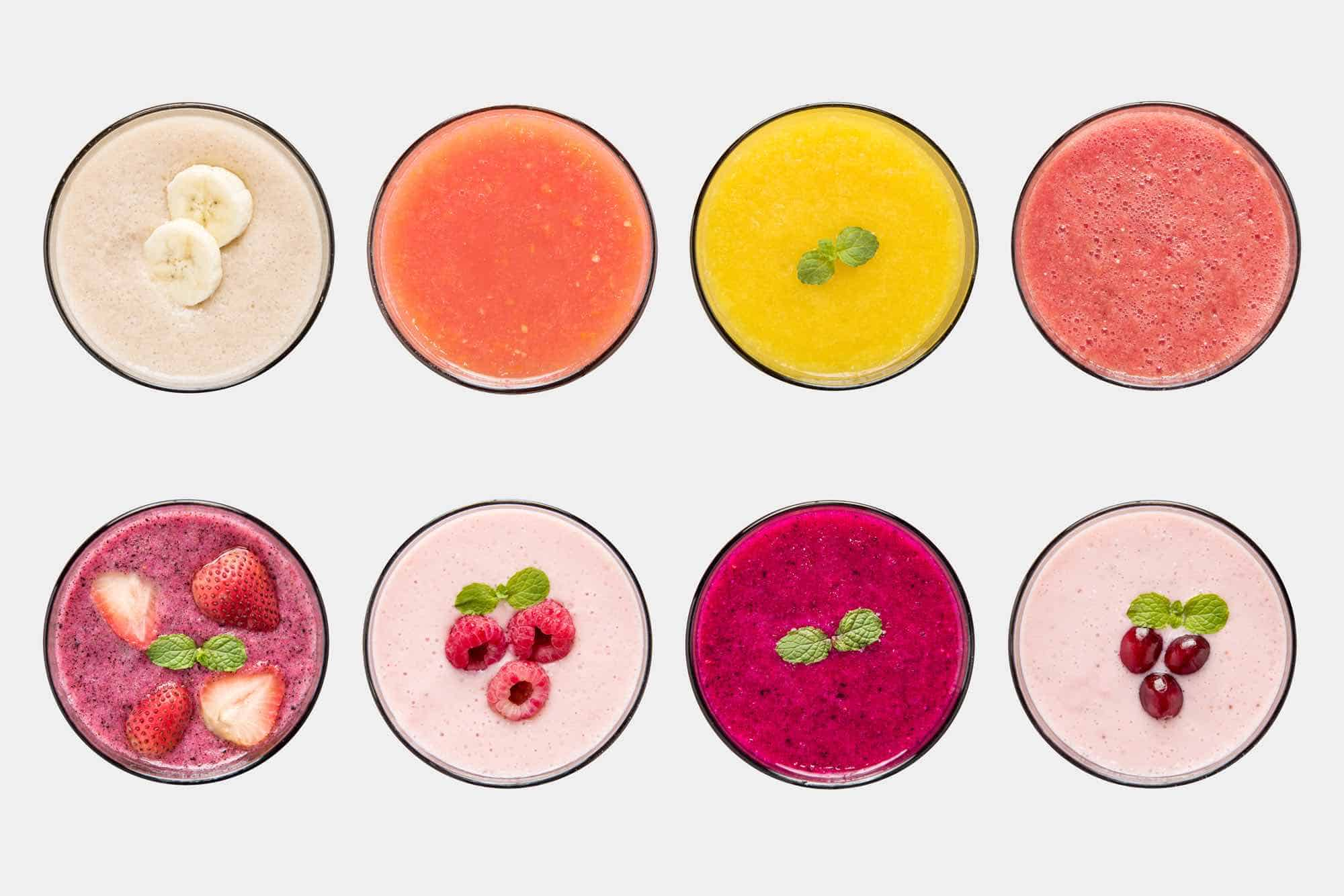 8 Amazing flavours courtesy of Life Smoothies